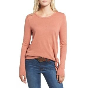 Madewell Soundcheck Side Tie Tee Shirt Size S
